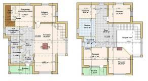 МЖК «Кутузово клаб», планировка 5-комнатной квартиры, 215.00 м²