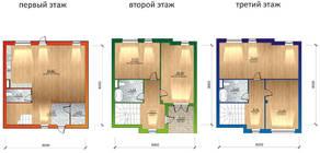 МЖК «Фестиваль», планировка 5-комнатной квартиры, 171.00 м²