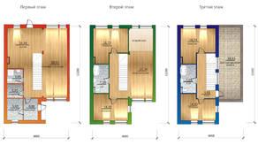 МЖК «Фестиваль», планировка 5-комнатной квартиры, 206.00 м²