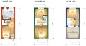 МЖК «Фестиваль», планировка 3-комнатной квартиры, 93.00 м²
