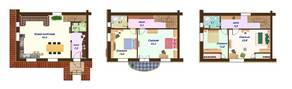 МЖК «Кембридж», планировка 5-комнатной квартиры, 110.00 м²
