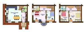 МЖК «Кембридж», планировка 5-комнатной квартиры, 95.00 м²