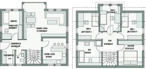 КП «Незабудкино», планировка 5-комнатной квартиры, 230.00 м²