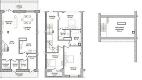 МЖК «Староникольское», планировка 5-комнатной квартиры, 200.00 м²