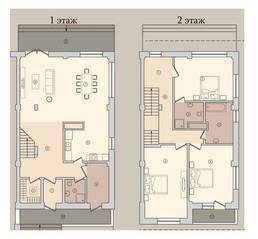 МЖК «Староникольское», планировка 5-комнатной квартиры, 173.10 м²