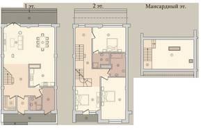 МЖК «Староникольское», планировка 5-комнатной квартиры, 198.70 м²