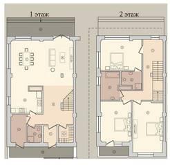 МЖК «Староникольское», планировка 5-комнатной квартиры, 171.40 м²
