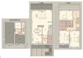 МЖК «Староникольское», планировка 5-комнатной квартиры, 229.90 м²