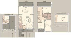 МЖК «Староникольское», планировка 5-комнатной квартиры, 251.10 м²