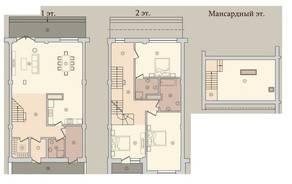 МЖК «Староникольское», планировка 5-комнатной квартиры, 196.00 м²