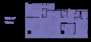 МФК «ОКО», планировка 3-комнатной квартиры, 188.00 м²
