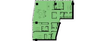 МФК «ОКО», планировка 5-комнатной квартиры, 298.00 м²
