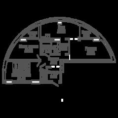 ЖК «9-18», планировка 3-комнатной квартиры, 95.39 м²