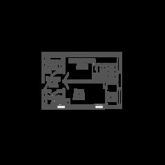 ЖК «9-18», планировка 1-комнатной квартиры, 44.00 м²