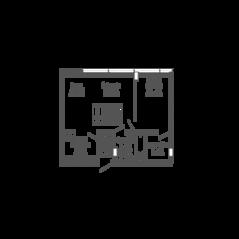 ЖК «9-18», планировка 2-комнатной квартиры, 52.48 м²