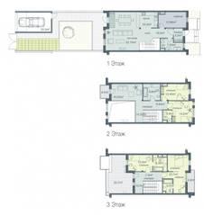 ЖК «Загородный квартал», планировка 5-комнатной квартиры, 228.20 м²