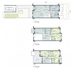 ЖК «Загородный квартал», планировка 5-комнатной квартиры, 228.70 м²