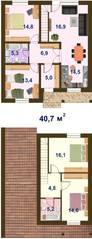 КП «Кленовый парк», планировка 5-комнатной квартиры, 117.70 м²