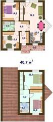 КП «Кленовый парк», планировка 5-комнатной квартиры, 121.40 м²