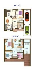 КП «Кленовый парк», планировка 5-комнатной квартиры, 186.90 м²