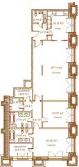 ЖК «Palazzo Imperiale», планировка 3-комнатной квартиры, 149.30 м²