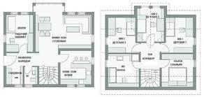 КП «Караськина охота», планировка 5-комнатной квартиры, 230.00 м²