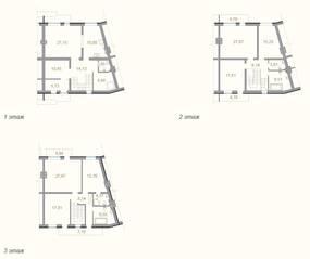МЖК «Мои Терийоки», планировка 5-комнатной квартиры, 253.74 м²