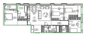 ЖК «Микрогород «В лесу», планировка 4-комнатной квартиры, 108.90 м²