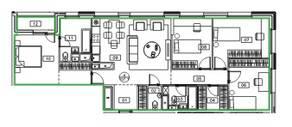 ЖК «Микрогород «В лесу», планировка 4-комнатной квартиры, 107.10 м²