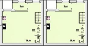 МЖК «Бисерово-Парк», планировка 2-комнатной квартиры, 68.10 м²