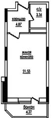 ЖК «на улице Захарченко, 5», планировка студии, 31.50 м²
