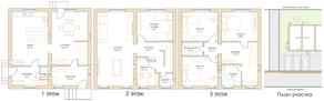 МЖК «Виндава», планировка 5-комнатной квартиры, 260.00 м²