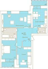 ЖК «Новый Город», планировка 3-комнатной квартиры, 101.80 м²