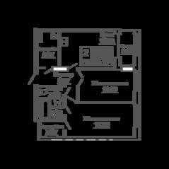 ЖК «9-18», планировка 2-комнатной квартиры, 69.17 м²