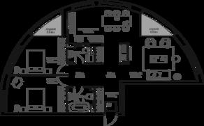 ЖК «9-18», планировка 3-комнатной квартиры, 102.51 м²