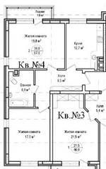 ЖК «Гнездо аиста», планировка 2-комнатной квартиры, 67.60 м²