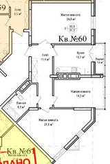 ЖК «Гнездо аиста», планировка 3-комнатной квартиры, 91.30 м²