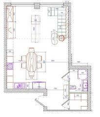 МФК «Loft Factory», планировка 3-комнатной квартиры, 87.80 м²