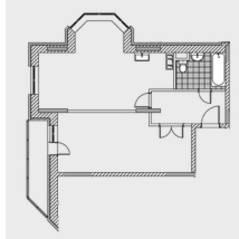 ЖК «Новобулатниково», планировка квартиры со свободной планировкой, 62.00 м²