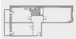 ЖК «Новобулатниково», планировка квартиры со свободной планировкой, 87.00 м²