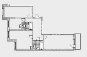 ЖК «Новобулатниково», планировка квартиры со свободной планировкой, 96.00 м²