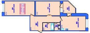 ЖК «Лесные озера», планировка 2-комнатной квартиры, 96.02 м²