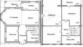 МЖК «Пятница парк», планировка 5-комнатной квартиры, 176.00 м²
