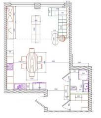 МФК «Loft Factory», планировка 3-комнатной квартиры, 85.00 м²