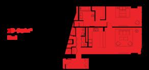 МФК «ОКО», планировка 2-комнатной квартиры, 79.00 м²
