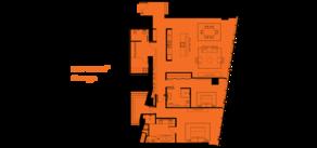 МФК «ОКО», планировка 3-комнатной квартиры, 183.00 м²