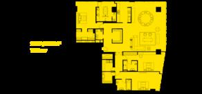 МФК «ОКО», планировка 5-комнатной квартиры, 287.00 м²