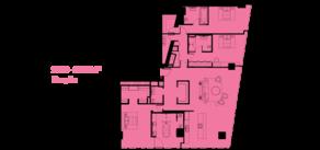 МФК «ОКО», планировка 5-комнатной квартиры, 231.00 м²