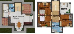 МЖК «Усадьба Павлино», планировка 3-комнатной квартиры, 130.60 м²
