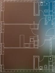 МФК «Пресня Сити», планировка 2-комнатной квартиры, 73.00 м²